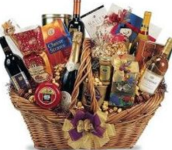 soiree wine and cheese basket