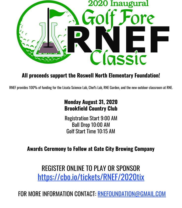 Foundation Flyer Page 1 Roswell North Golf Tournament July 2020